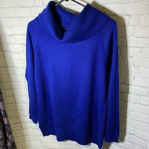 89th & Madison Blue Cowl Neck Sweater Size S